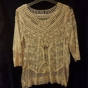 Maurice's Lace Top Excellent Condition